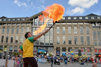 Gentse Feesten: a festival of street theater, art and concerts in Ghent